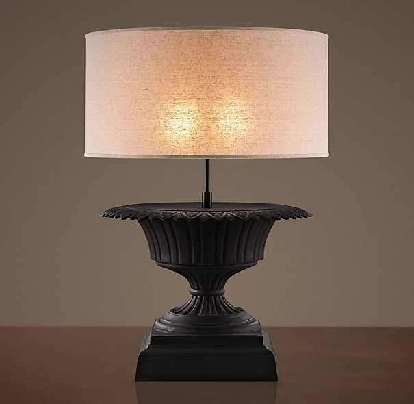 Lovely Iron Fluted Urn Table Lamp
