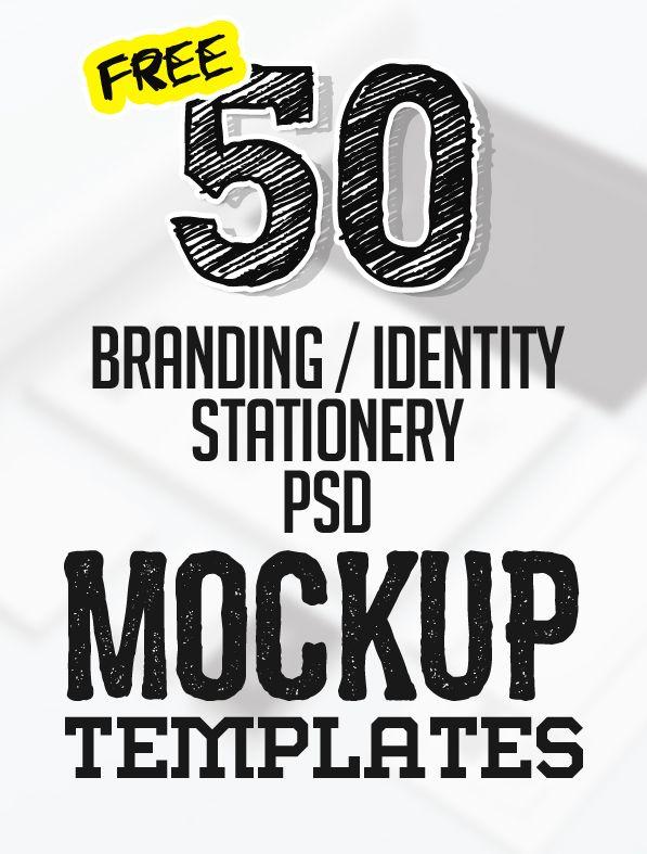 50+ Free Branding / Identity & Stationery PSD Mockups #branding #stationerymockup #freepsdmockups #freepsdfiles #freebies #bestof2016