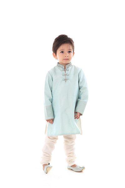 Cotton silk kurta with cotton pajama