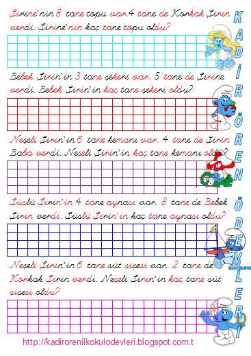 ilkokul ödevleri: 1.SINIF PROBLEMLER-2