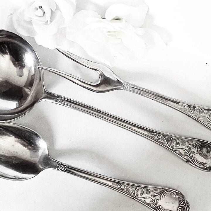 Silver Soup Ladle, Vintage Sterling Silver Cutlery…