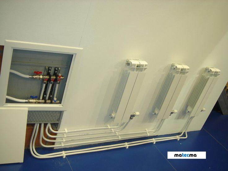 Ejemplo de una instalaci n de radiadores con colector - Instalacion calefaccion radiadores ...