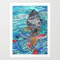 Art Print featuring Black Swan by Juliana Kroscen