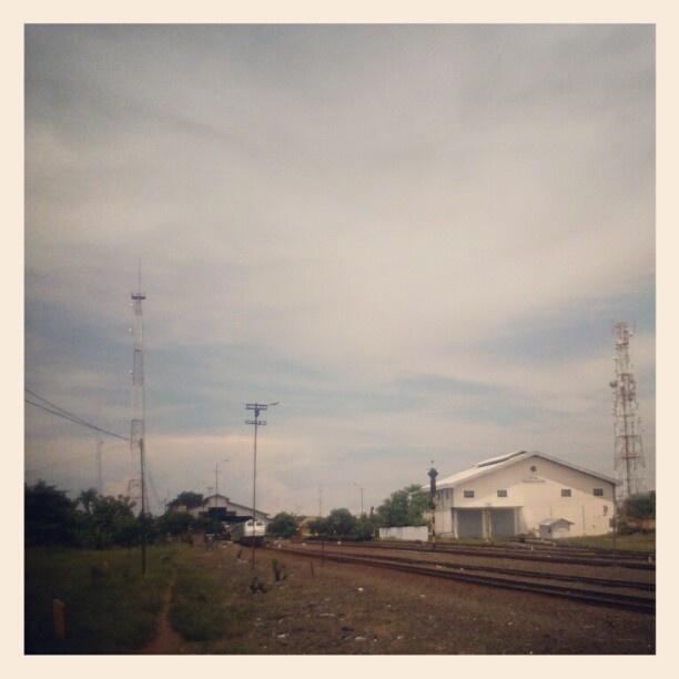 Stasiun Pekalongan di lihat dari Bengkel Kereta