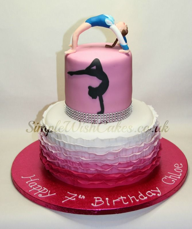 Love this cake, would do it without back bend girl on top though