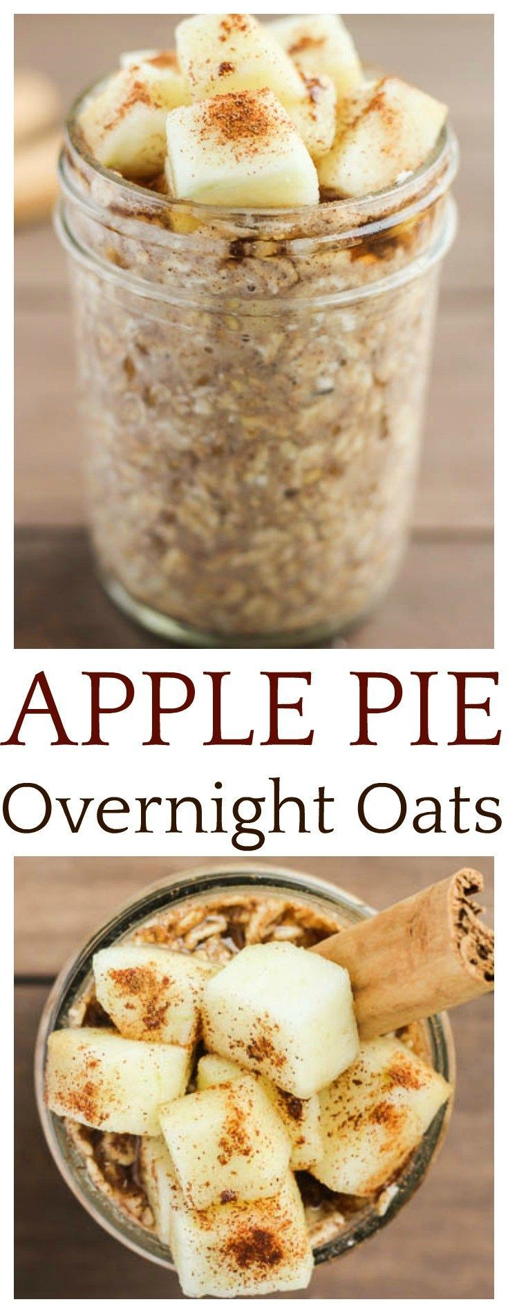 If you love apple cinnamon oatmeal, you will love these Apple Pie Overnight Oats! They are a quick and delicious make ahead breakfast recipe that is perfect for busy mornings!