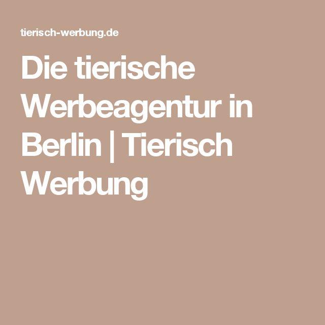 Die tierische Werbeagentur in Berlin | Tierisch Werbung