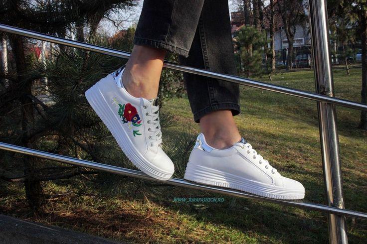 "Poze Pantof Dama Casual ""Rose"" White by JukaFashion.ro cod B5550-66"