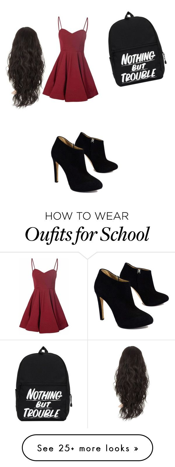Cool and its great for school by wayne-vi on Polyvore featuring Glamorous and Giuseppe Zanotti