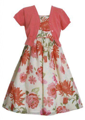 e774fbca79a Coral Floral Print Chiffon Dress Jacket Set CO8MB