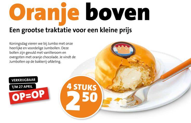 Hoe lekker zien deze 'Jumbollen' er uit? Nu te koop bij de Jumbo t/m 27 april. Bekijk de overige oranje aanbiedingen van de Jumbo op Reclamefolder.nl.