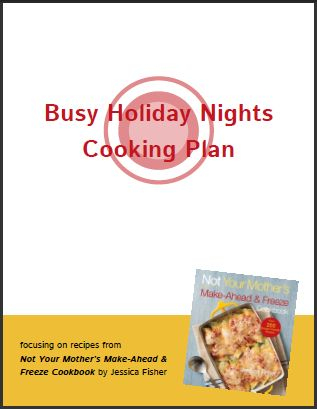 Busy Holiday Nights Freezer Cooking Plan - this plan makes it easy to fill your freezer with dinners for busy nights during the holiday season. Grocery list and cooking plan plus links to recipes.