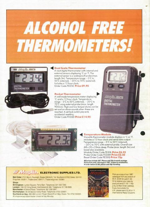 ALCOHOL FREE THERMOMETERS! - yes folks we now do digital thermometers - as of 1980!