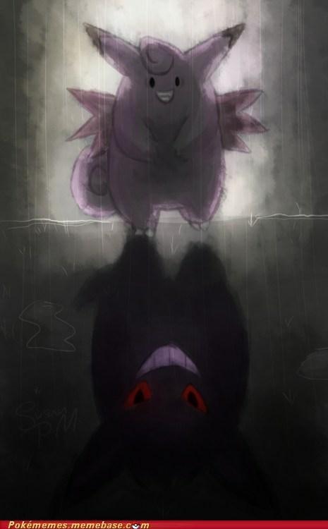 clefairy and gengar pokemon