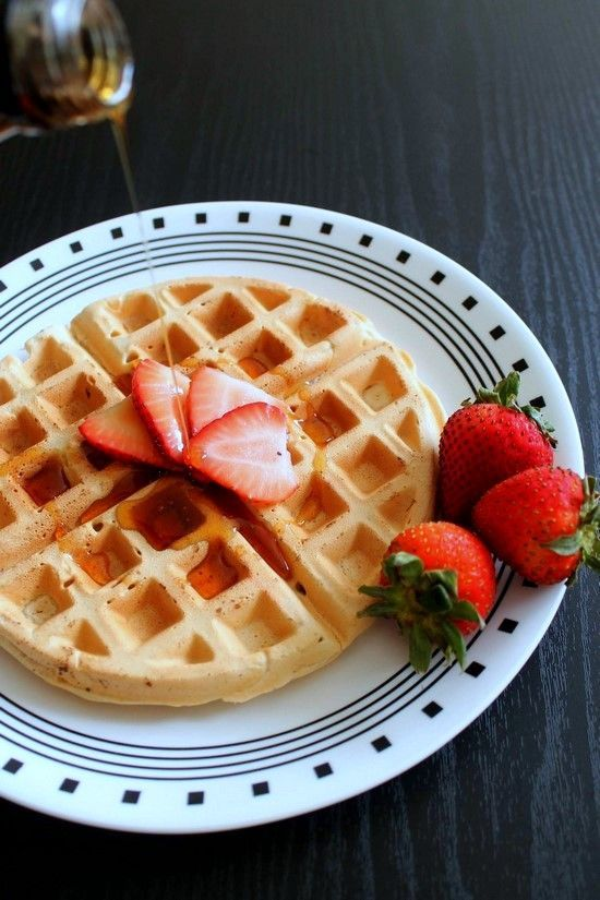 Eggless waffle recipe or Vegan waffles with step by step photos -very easy to make. The basic waffle recipe, you can flavor it up as you like