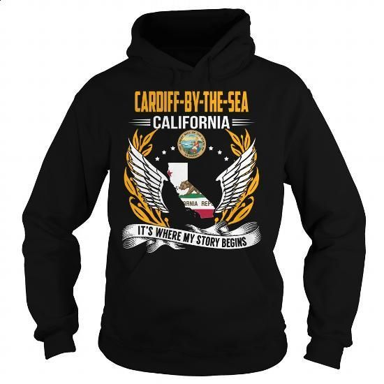 Cardiff-by-the-Sea, California - Its Where My Story Begins - #bridesmaid gift #hoodie womens. I WANT THIS => https://www.sunfrog.com/States/Cardiff-by-the-Sea-California--Its-Where-My-Story-Begins-102937775-Black-Hoodie.html?60505