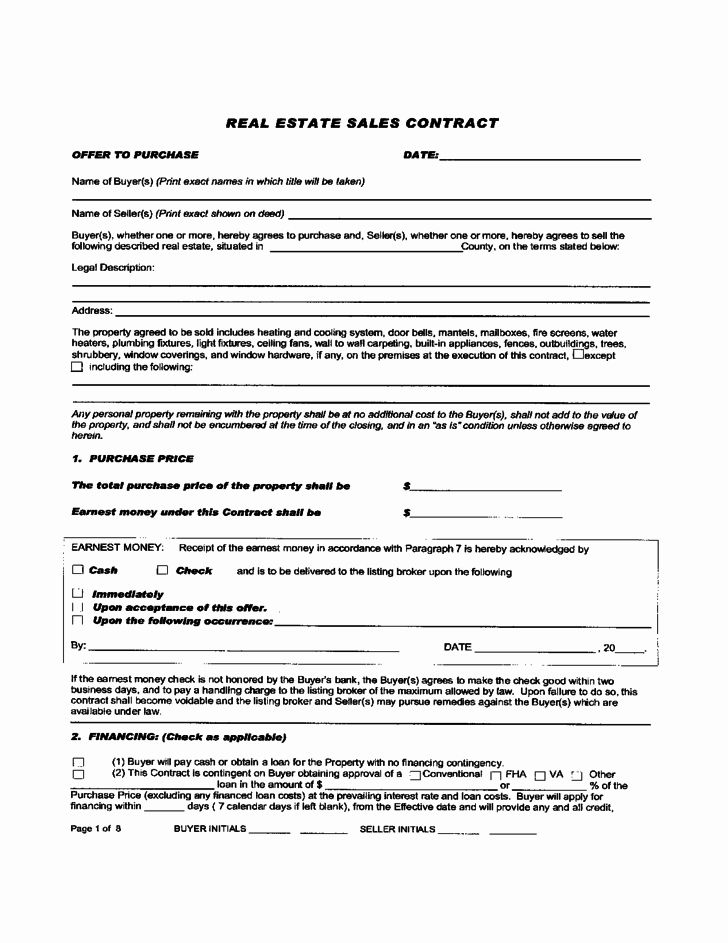 Real Estate Sale Contract Template Lovely Real Estate Sales Contract Free Download Contract Template Real Estate Sales Content Calendar Template