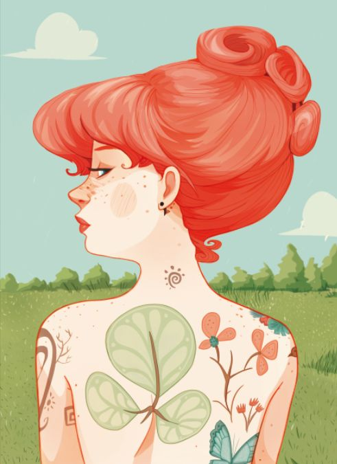 Green and Red by Laura Pérez, via Behance