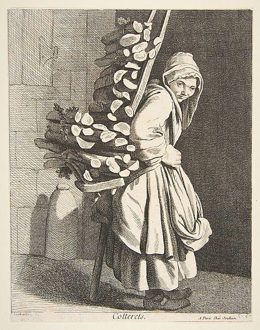 Bundled Firewood Seller, Paris, 1746, Anne Claude de Tubieres after Edme Bouchardon, etching with some engraving