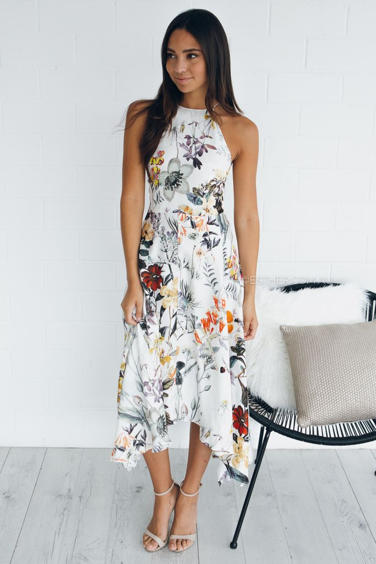 talulah into you floral flare midi dress - floral