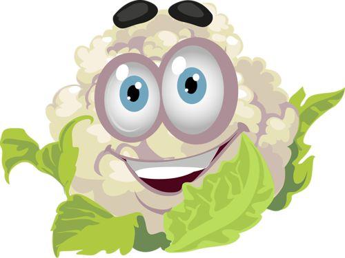 Légumes rigolos - Chou fleur