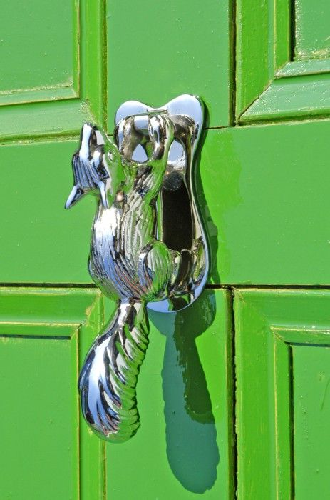 Solid Brass Squirrel Door Knocker