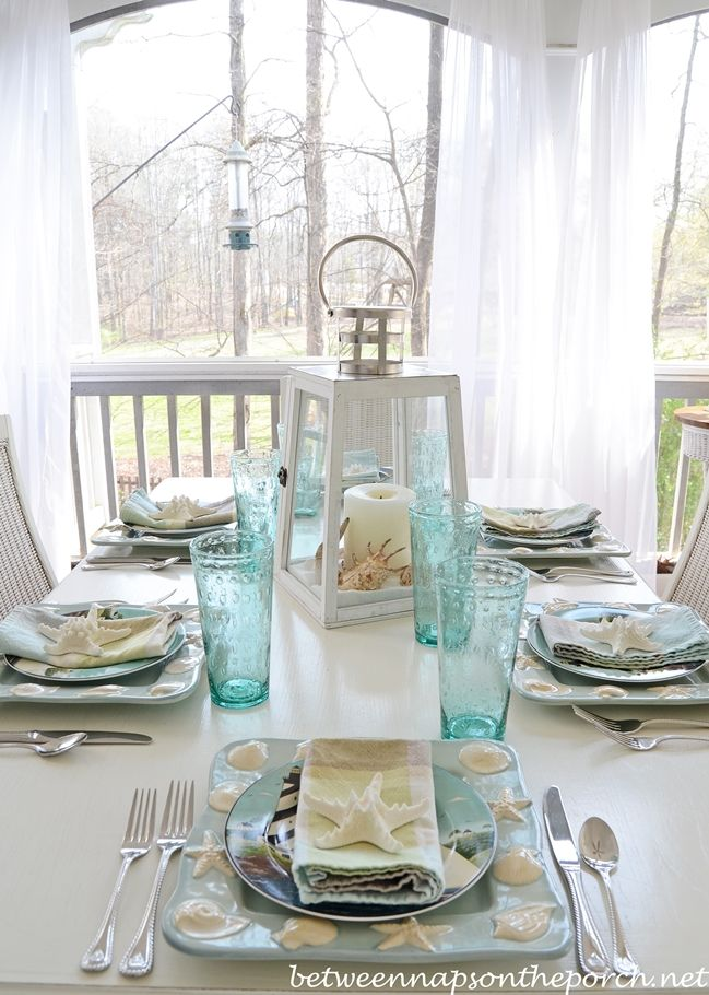 Best ideas about beach table settings on pinterest
