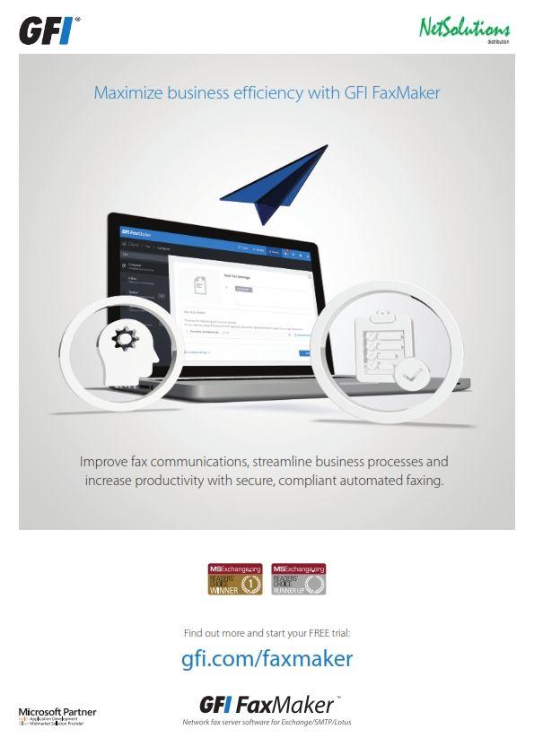 PT. #Netsolutions Infonet Maximize business efficiency with #GFI FaxMaker