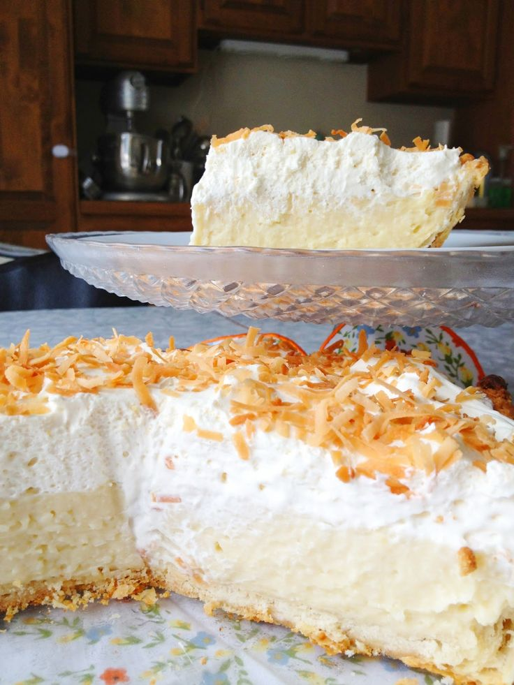 Coconut cream pie.. mmm, I'm going to try to make individual ones.