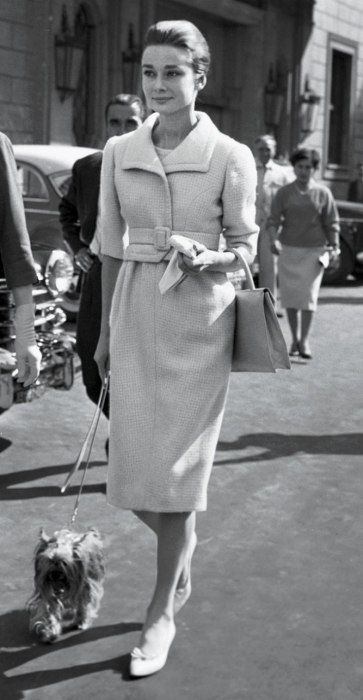 1959 ensemble: Givenchy. shoes: Roger Vivier for Christian Dior.... Re-pinned by StoneArtUSA ~ pet memorials since 2001