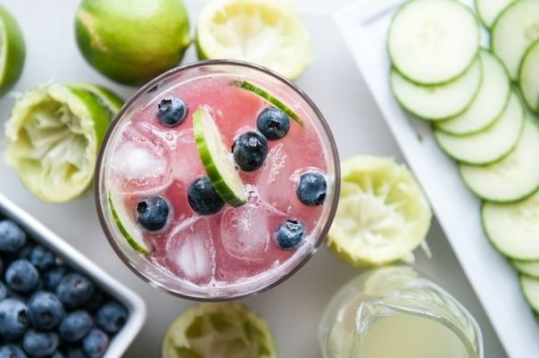 blueberry cucumber gimlet