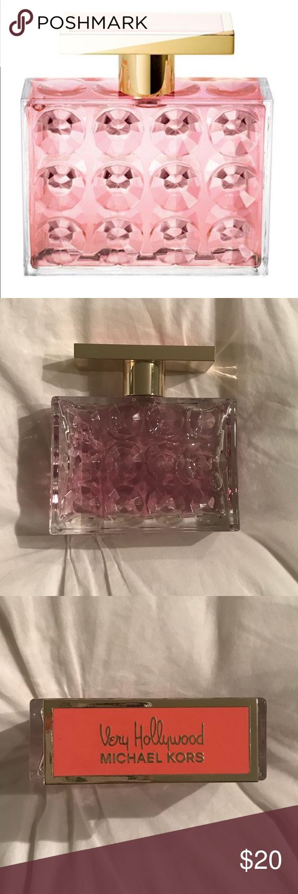 🆕 Michael Kors Very Hollywood Perfume 3.4 fl oz Brand new! Only sprayed once or twice to test. Michael Kors Very Hollywood perfume in the 3.4 fl oz bottle size. Beautiful bottle, looks great on a dresser.   Scent description: With a beautiful blend of mandarin, iced bergamot, soft white moss, wet jasmine, raspberry, gardenia, and creamy amber along with other floral, fruity, oriental and woody fragrances, the eau de parfum spray has an irresistible scent. Michael Kors Makeup