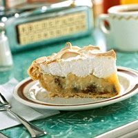 Old-Fashioned Sour Cream/Raisin Pie from Downing Cafe, Downing, Wisconsin