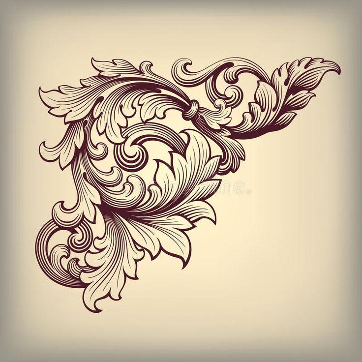 coin baroque de cadre de vintage de vecteur fleuri image libre de droits image 33038586. Black Bedroom Furniture Sets. Home Design Ideas