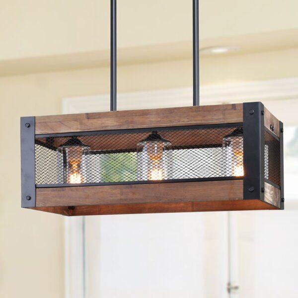 3 Light Kitchen Island Rectangle Led Pendant In 2020 Farmhouse Dining Room Lighting Dining Lighting Dining Room Lighting