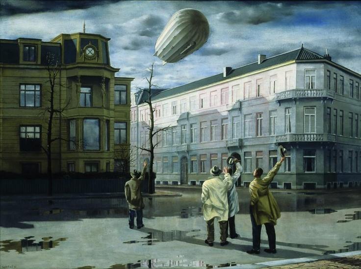Carel Willink - De Zeppelin / The Blimp (1933)