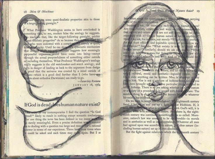 Altered Book Art Journal - Marks All wash girl - BananaCurlGirl.com