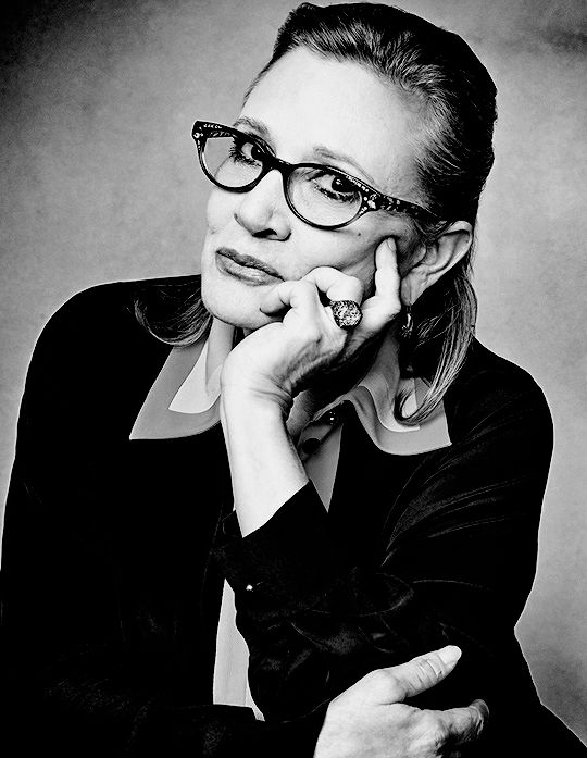 """Carrie Fisher photographed by Gavin Bond, 2016 "" Carrie Fisher, gone at 60…Peace for you, your family, friends, and legions of fans worldwide…the force will always be with..."