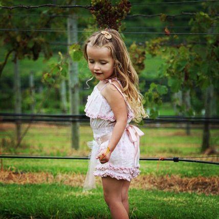 my princess #SibellaCK discovering the vineyard