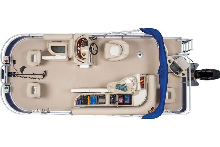 2014 Sun Tracker® Fishin' Barge 20 DLX - Top View w/Open Compartments #features #SunTracker #fishing http://www.exclusiveautomarine.com/product/fishin-barge-20-dlx