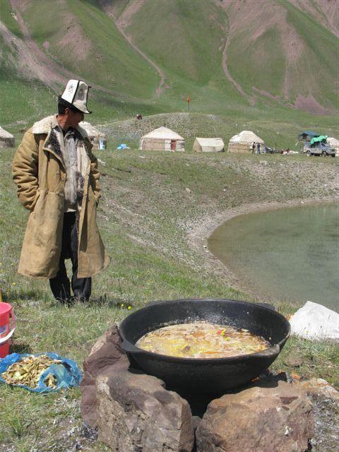 Outdoor cook - Kyrgyzstan http://www.travelbrochures.org/137/europa/off-to-liechtenstein-tour