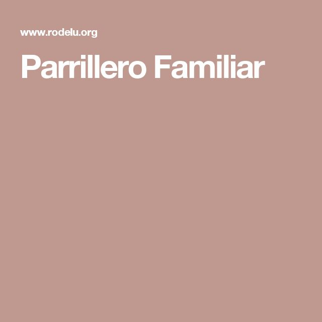 Parrillero Familiar