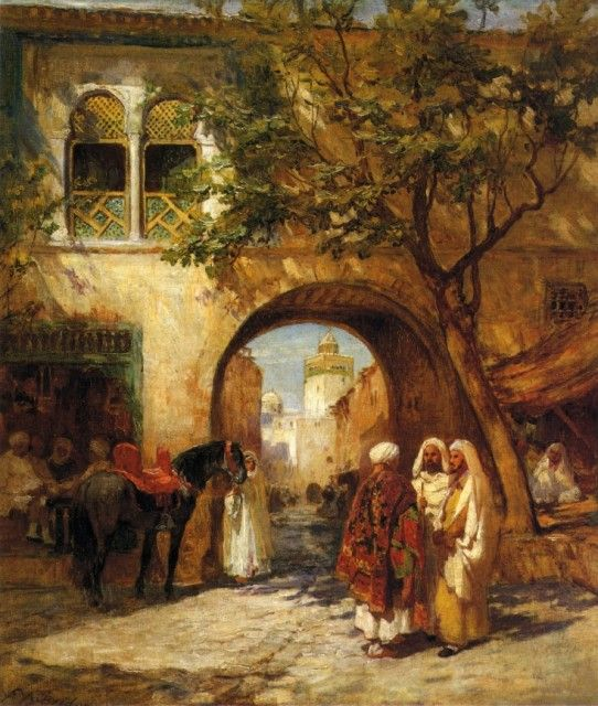 Frederick Arthur Bridgman - By the City Gate