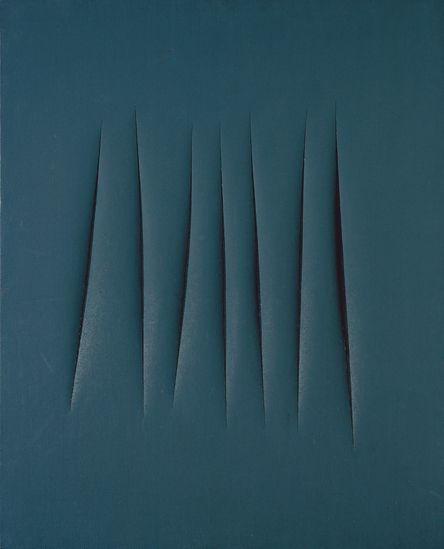 Lucio Fontana, Spatial Concept, Waiting, 1962. on ArtStack #lucio-fontana #art