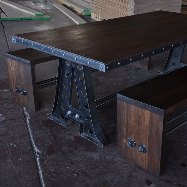 I like the edge of this for the large bar cart  Bench | Vintage Industrial Furniture