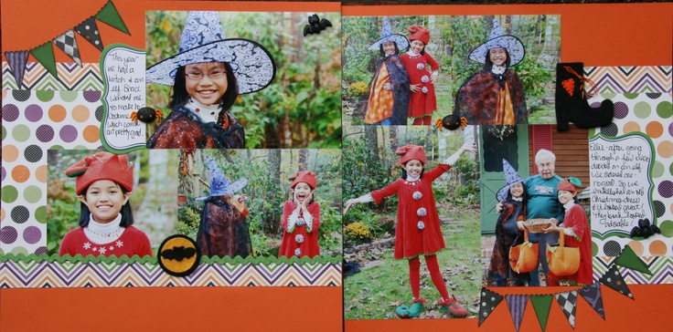 Halloween 2011 - Scrapbook.comScrapbook Halloween, Scrapbook Inspiration, Scrapbook Com, Fall Halloween Thanksgiving, Halloween Fal, Fall Halloween Scrapbook, Scrapbook Layout, Halloween 2011, Halloween 11