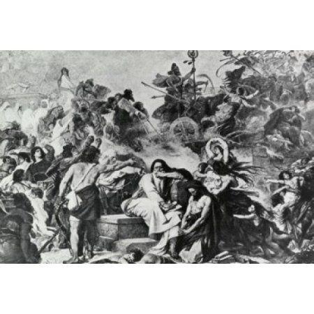 Jewish Captives Weeping Over Babylonian Captivity Eduard Bendermann (1811-1889 German) Canvas Art - Eduard Bendermann (18 x 24)