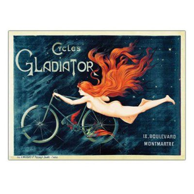 Cycles Gladiator Canvas Art by Georges Massias - V6009-C1824GG