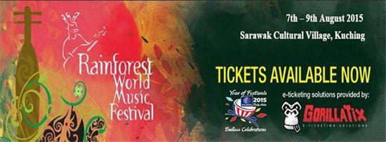 7-9 Aug 2015: Rainforest World Music Festival