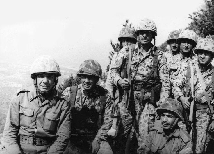 20 Temmuz Gecesi Rum Komando Taburlarının Saldırılarına Direnerek Büyük Bir Zafer Kazanan Bolu Komando Tugayı Komutanı Tuğgeneral Sabri Demirbağ Ve Karargah Subayları